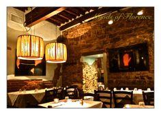 Interior of Trattoria Quattro Lione, our favorite restaurant in Firenze, Italy. Feb 2011. Via de de Vellutini 1r | P.za della Passera Firenze, Florence, Italy