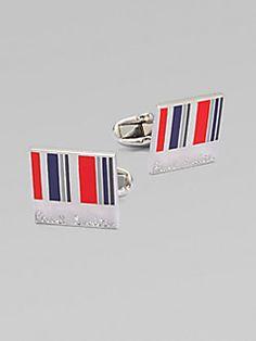 Paul Smith  Striped Enamel Cuff Links