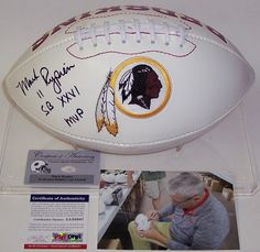 Mark Rypien Autographed Hand Signed Washington Redskins Logo Football - PSA/DNA