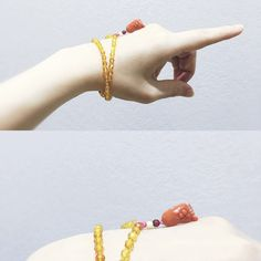Hand made Amber and Coral Design by friend