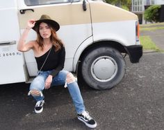 Nami from NZ fashion blog serendipity ave wearing revolve and FRWD van