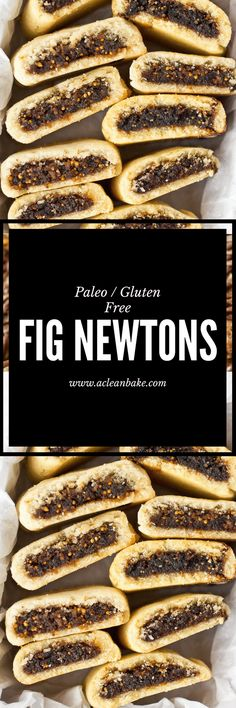 Paleo Fig Newtons (gluten free, grain free, naturally sweetened)
