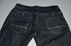 ENYCE Sean Combs Black Wash Jeans Swag 40W 32L Urban #Enyce #BaggyLoose