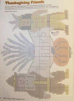 thanks pilgrim indian pattern plastic canvas 2-2