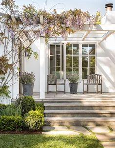 Pergola Ideas For Patio Pergola With Roof, Patio Roof, Backyard Pergola, Outdoor Spaces, Outdoor Living, Patina Farm, Back Gardens, Pergola Designs, Pergola Ideas