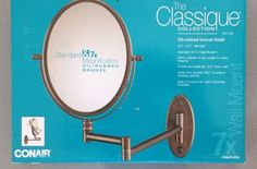 Makeup Mirrors: Conair Classique Collection Make-Up Mirror - Standard And 7X Magnification-#41794 BUY IT NOW ONLY: $30.0
