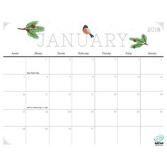Cute and Crafty 2018 Calendar to brighten your day and your home!