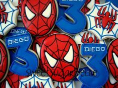 Perfect Party: Spiderman themed Party printables & cookies - Cumple temático del Hombe Araña