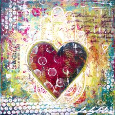 Mixed media painting by Laly Mille