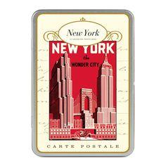 Cavallini - Carte Postale - New York City - Tin of 18 Postcards - 9 Designs/2 Per Design: Amazon.co.uk: Toys & Games