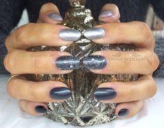 #FiftyShadesOfGrey nail art using Gel II over CND Brisa extensions xDBDx