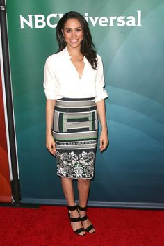 PASADENA, CA - JANUARY 19: Actress Meghan Markle attends the NBC/Universal 2014 TCA Winter Press Tour held at The Langham Huntington Hotel and Spa on January 19, 2014 in Pasadena, California. (Photo by Tommaso Boddi/WireImage) via @AOL_Lifestyle Read more: https://www.aol.com/article/entertainment/2017/03/30/prince-harry-meghan-markle-moving-in-together/22018742/?a_dgi=aolshare_pinterest#fullscreen