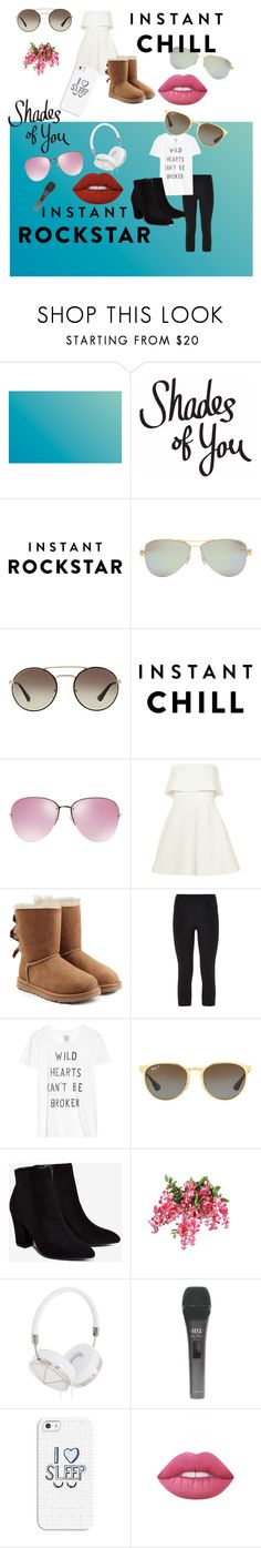 """Shades of You: Sunglass Hut Contest Entry // Chill Or Rockstar?"" by adriannaloy ❤ liked on Polyvore featuring Tiffany & Co., Prada, Miu Miu, Elizabeth and James, UGG Australia, NIKE, Zoe Karssen, Ray-Ban, Billini and Frends"