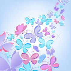 Vector of vector butterfly background