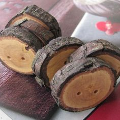 wood buttons!