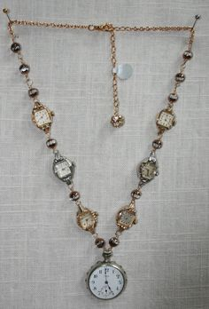 Vintage Watch cool watch face necklace - Buying the right jewelry, whether for you or someone else, can be flustering at times. This is usually because you do not know what to look for to ensure that your jewelry purchase is the right one… Vintage Jewelry Crafts, Recycled Jewelry, Old Jewelry, Jewelry Art, Beaded Jewelry, Handmade Jewelry, Jewelry Design, Jewelry Making, Unique Jewelry