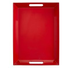 Martha Stewart Collection Red Melamine Handled Serving Tray found on Polyvore