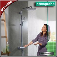 Sistem de dus Hansgrohe Crometta E240 cu termostat | Mirror, Mirrors, Tile Mirror