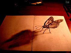 Flache Bleistiftzeichnungen in 3D http://kunstop.de/flache-bleistiftzeichnungen-in-3d/ #Flache #Bleistiftzeichnungen #3D
