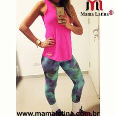 Boa tardee ☁  ☁ olhem só que #look maravilhoso inteiro @mamalatinabrasil  Regata dry Pina R$39,00 e legging Piton lavanda R$99,00 . Desconto de 5% no boleto, frete grátis em Compras acima de R$99,90 6X no cartão .