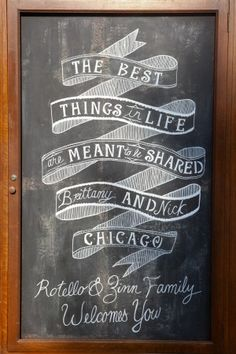 Minus the whole wedding part, this design is adorable and would look awesome on our chalkboard in the room.