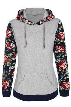 Cupshe Nothing But Roses Hooded Sweatshirt