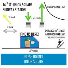 Fresh Food Dinner Kits at Union Square Subway Station