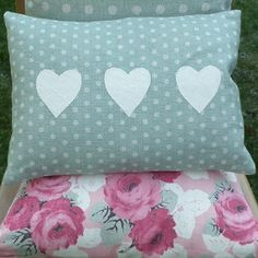 Hand crafted heart cushion