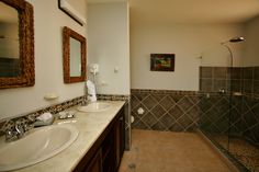 One of the condos luxurious bathrooms