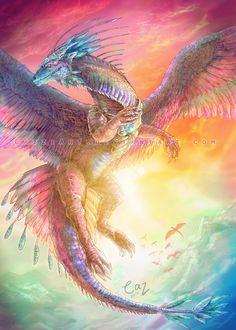 Azure Wings by CazziArt (DeviantArt)