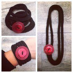 vane.handicraft's photo on Instagram tricotin bracelet/necklace