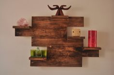 Mi wife a I made this super simple, super cheap shelf! - Imgur