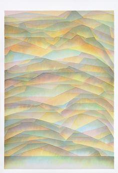 "Saatchi Art Artist: Alex Diamond; Watercolor 2013 Painting ""ryb edges"""