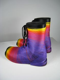 Coloured Threads Designing on Boots by Gabriel Dawe-5 Pictures « Amazing World Pictures -- coming to SCAD Define Art