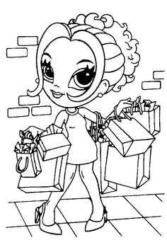 167 Best Coloring Pages For Girls ! images in 2015 | Coloring pages ...