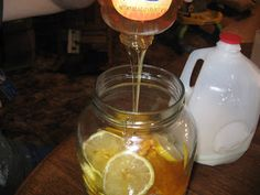 Amish Homemade Cough Syrup... (looks a lot like my vietnamese cough syrup - but with lemons!)