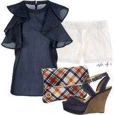 Navy and White, created by styleofe on Polyvore