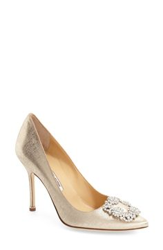 Manolo Blahnik 'Hangisi' Jeweled Pump (Women) (Nordstrom Exclusive Color) available at #Nordstrom