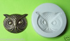 OWL HEAD  FACE #4 largest ~ CNS polymer clay mold