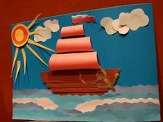 February 23 craft: 14 thousand pictures Paper Crafts For Kids, Projects For Kids, Diy And Crafts, Arts And Crafts, Diy Paper, Boat Crafts, Summer Crafts, Fall Crafts, Art N Craft