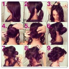 Updo hair tutorial