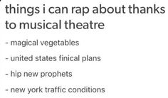 IM DYING! INTO THE WOODS, HAMILTON, THE BOOK OF MORMON, IN THE HEIGHTS