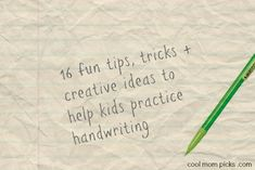 Handwriting practice for kids: 16 tips, tricks, activities and creative ideas