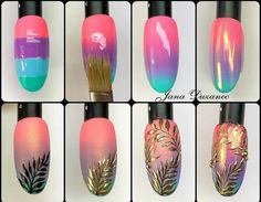 Make an original manicure for Valentine's Day - My Nails Gel Nail Art, Nail Art Diy, Easy Nail Art, Diy Nails, Cute Nails, Diy Art, Simple Nail Designs, Nail Art Designs, Diy Nail Designs Step By Step