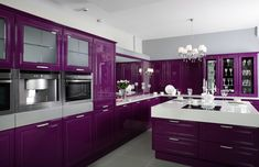Purple and Black Kitchen Decor . 24 Fresh Purple and Black Kitchen Decor . Purple Kitchen — 14 Creative Ways to Decorate A Kitchen with Purple — Purple Kitchen Cabinets, Kitchen Colors, Kitchen Decor, Kitchen Ideas, Kitchen Interior, Kitchen Themes, Kitchen Pictures, Kitchen Paint, Design Kitchen