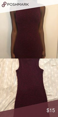 Burgundy Sweater Dress Burgundy sleeveless sweater dress. Size medium. Never been worn Monteau Dresses Midi