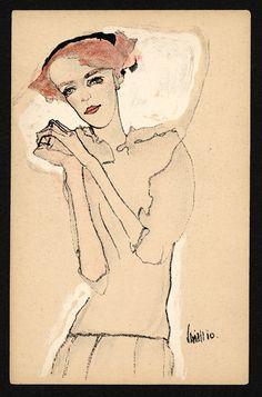 ca. 1910, Egon Schiele.
