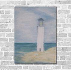 Acrylmalerei - Kunst Malerei Acrylbild Maritim Unikat Leuchtturm  - ein Designerstück von Kunstgalerie-Winkler bei DaWanda