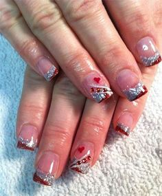 41 Best Valentine S Day Acrylic Nail Art Images Heart Nails Heart