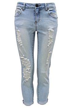 Distressed Cropped Pant